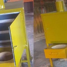 Portable Metallic Charcoal Oven