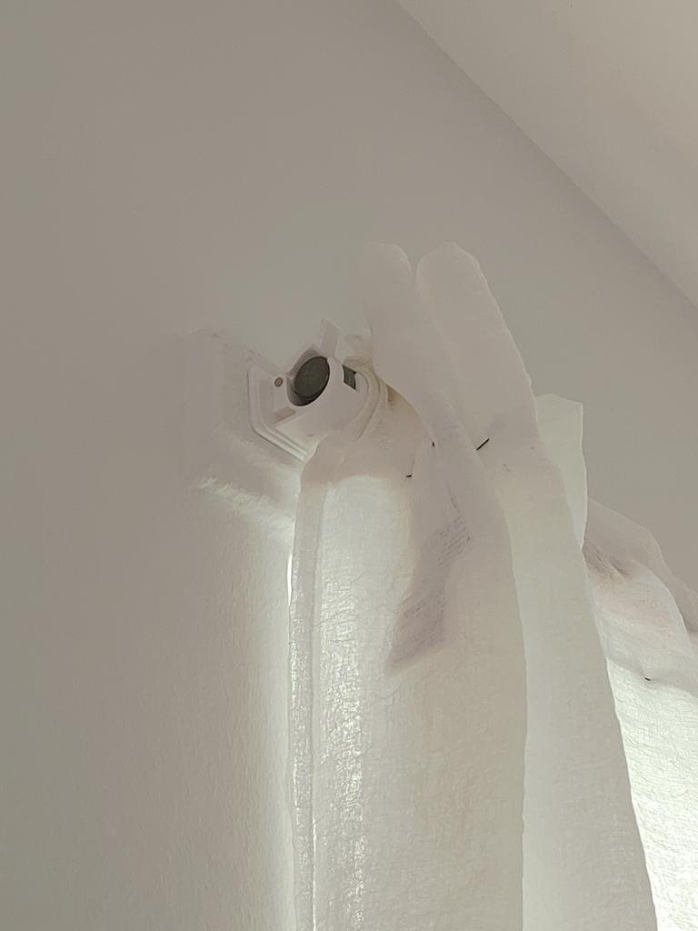 2pcs self adhesive curtain rods white hanger crossbar clips wall hooks