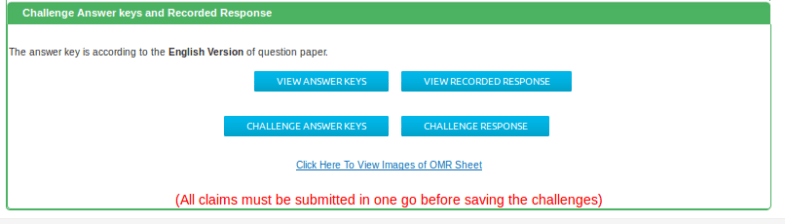 Verif ication of Scanned Images of OMR Answer Sheets , Recorded Responses & Answer Key