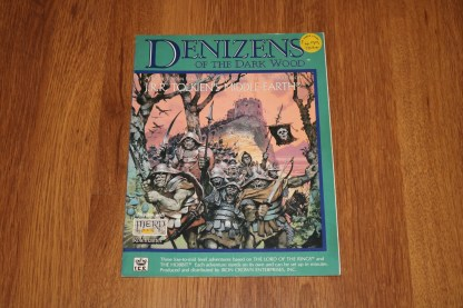 ugi games toys ice iron crown merp middle earth rpg book supplement denizens of the dark wood 8111