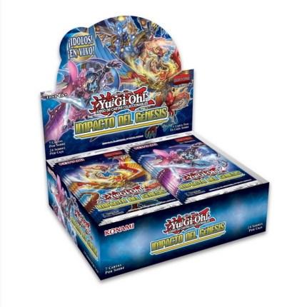 ugi games toys konami yugioh caja display sobres juego cartas impacto del genesis