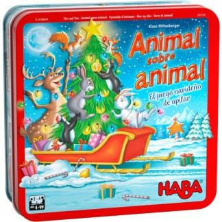 ugi games toys haba animal sobre animal navidad juego mesa infantil español