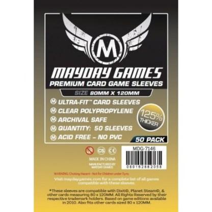 ugi games toys mayday premium magnum gold card sleeves 80 120 7146 fundas cartas