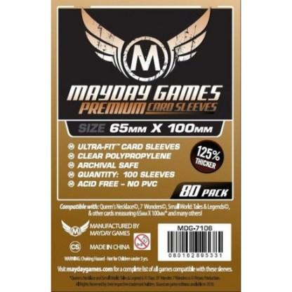 ugi games toys mayday premium magnum copper card sleeves 65 100 7106 fundas cartas