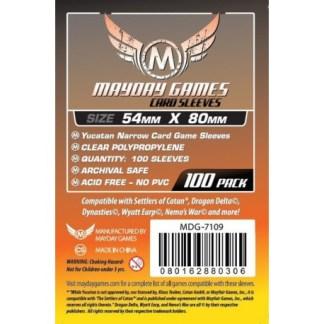 ugi games toys mayday premium yucatan narrow card sleeves 54 80 7109 fundas cartas