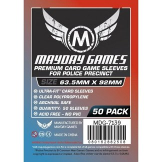 ugi games toys mayday premium police precinct card sleeves 63 92 7139 fundas cartas