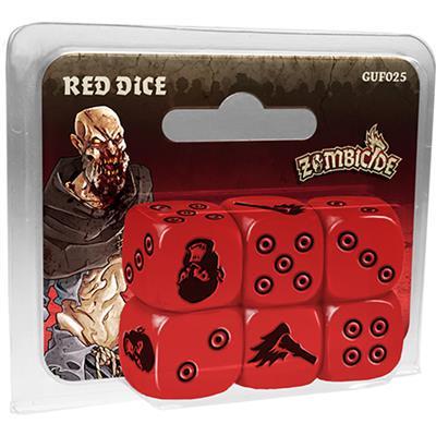ugi games toys cmon limited zombicide black plague red dice pack accesorio juego mesa español
