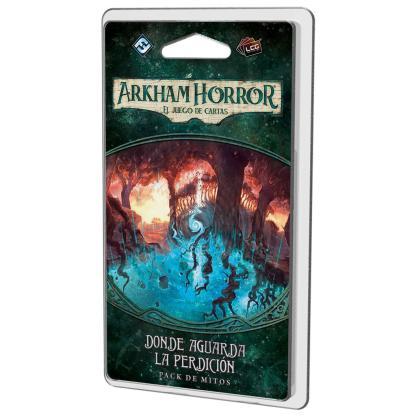 ugi games toys fantasy flight arkham horror lcg juego cartas español pack mitos legado dunwich donde aguarda perdicion