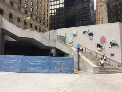 #14: Royal Bank Plaza with these weirdo smushed people sculptures...
