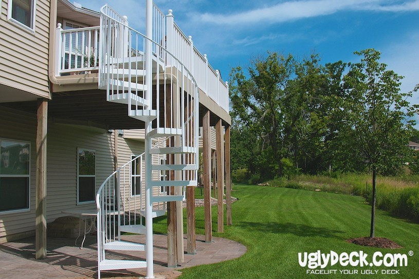Offset The Cost To Build A Deck With Duck Bucks | Outdoor Spiral Staircase Cost