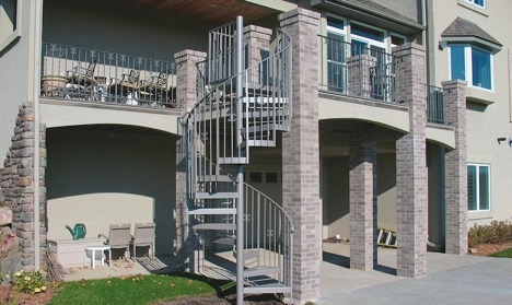 Installing An Outdoor Spiral Staircase Which Building Codes And | Diy Outdoor Spiral Staircase | Simple | 12 Foot | Metal | Do It Yourself Diy | Curved
