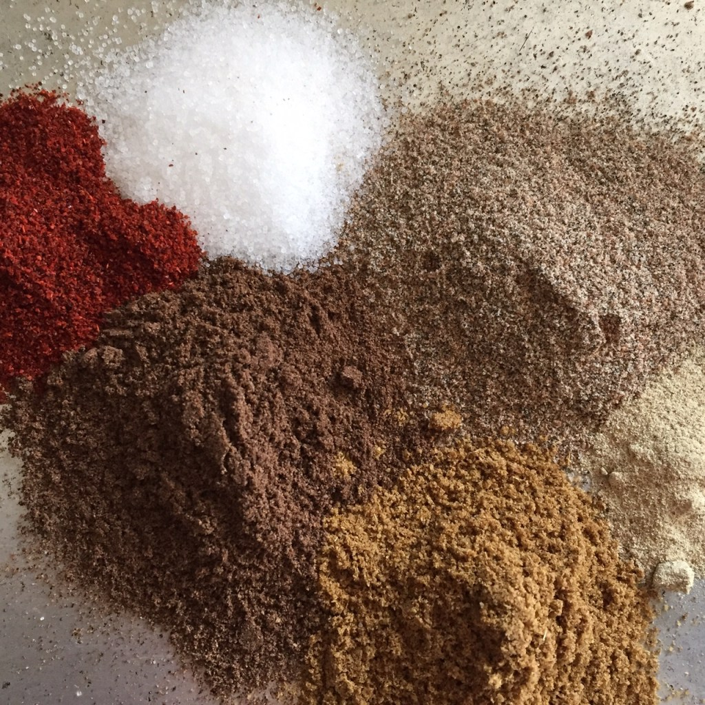 a collection of dried spices