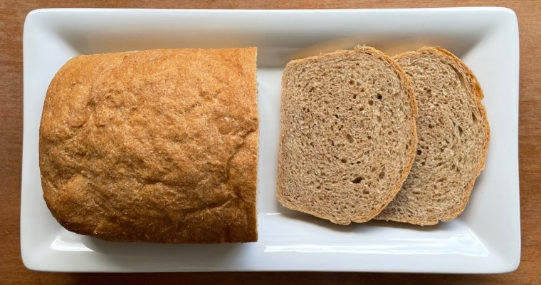A honey wheat bread recipe for an everyday sandwich loaf