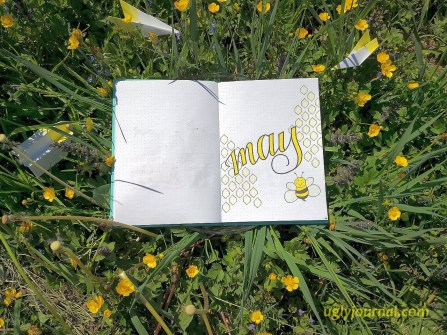 May Bullet journal Happy bee