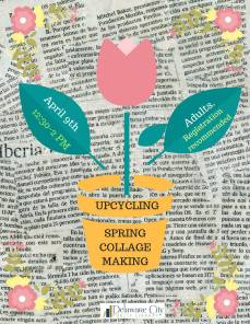 Upcycling: Spring Collage Making at the Delaware City Library