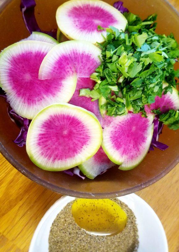Watermelon Radish Recipe Vegan