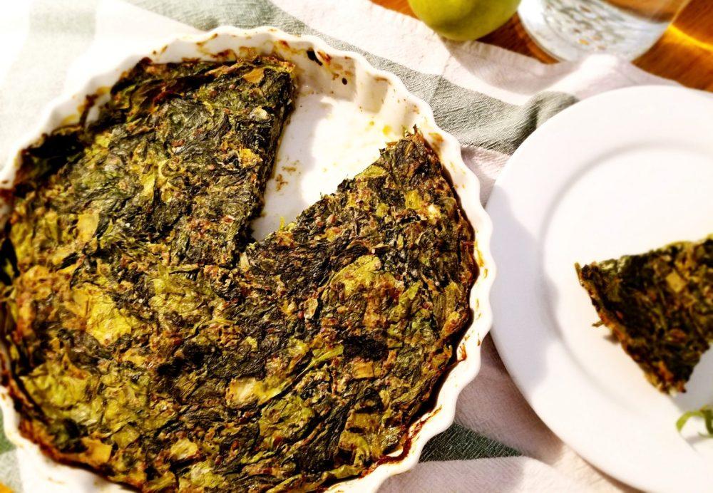 Kuku Sabzi Vegan Recipe