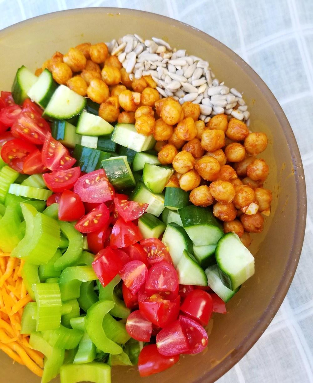 Vegan Chickpea Kale Salad Recipe