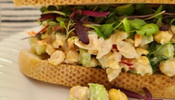 Vegan Chickpea Salad with Pickle