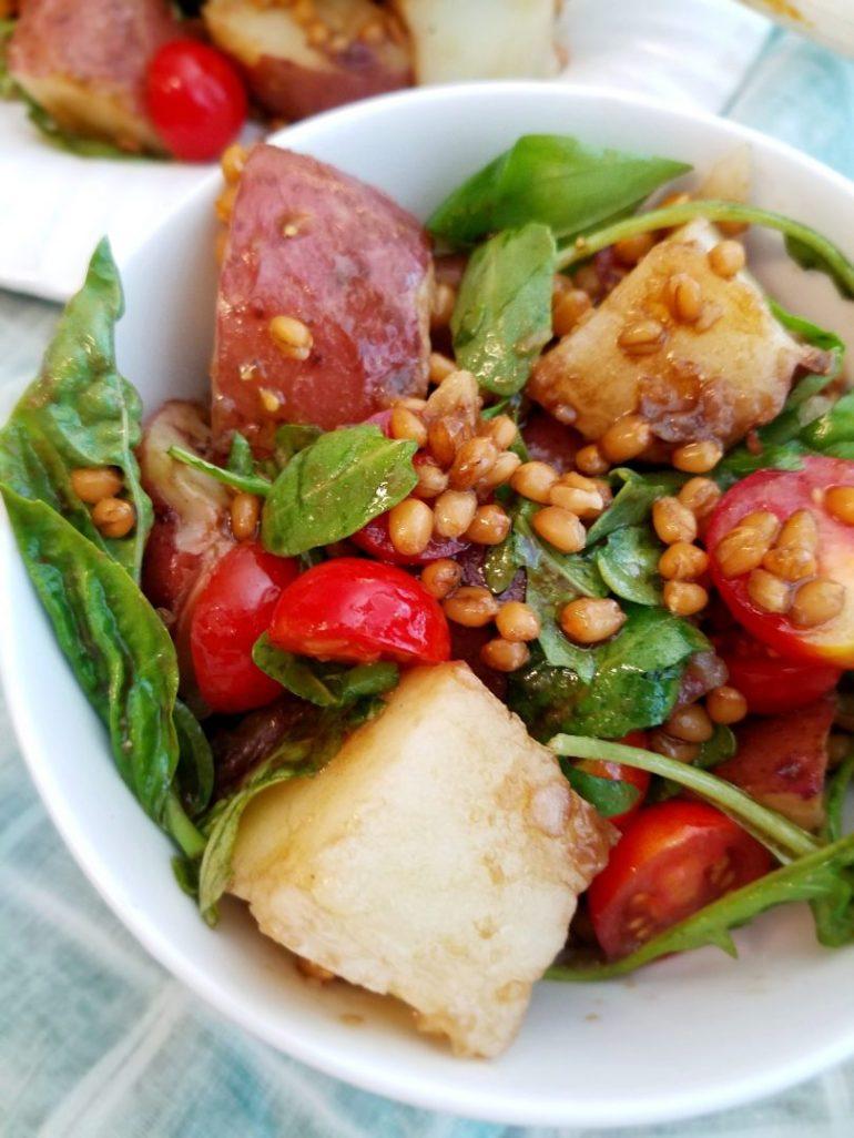 Easy vegan red potato salad recipe