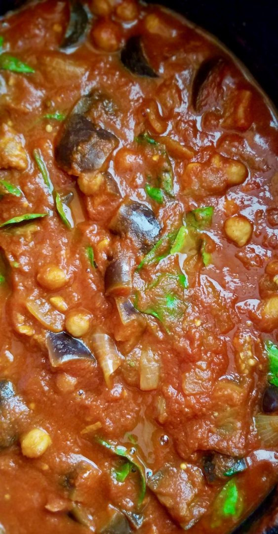 Vegan Eggplant and Chickpea Stew Recipe