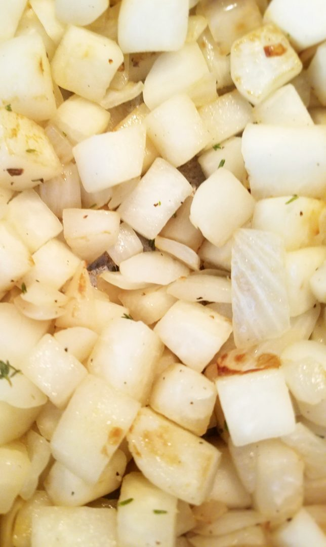 Vegan turnip hash recipe