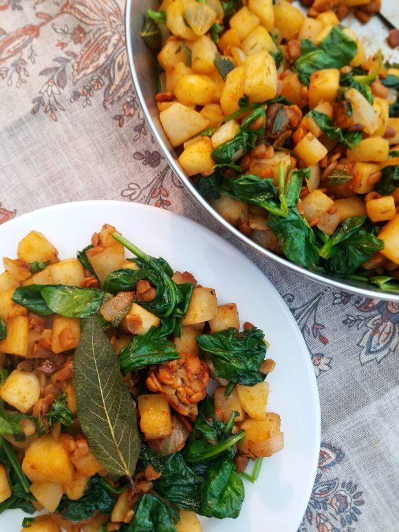 Tempeh hash vegan recipe