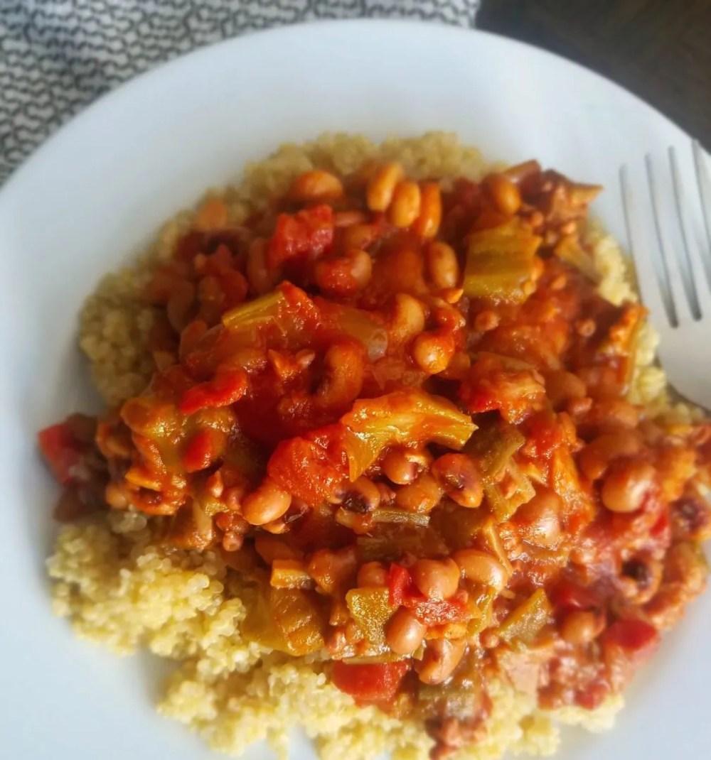 Vegetarian Black Eyed Peas and Okra Recipe