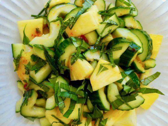 How to Make Cucumber Pineapple Salad