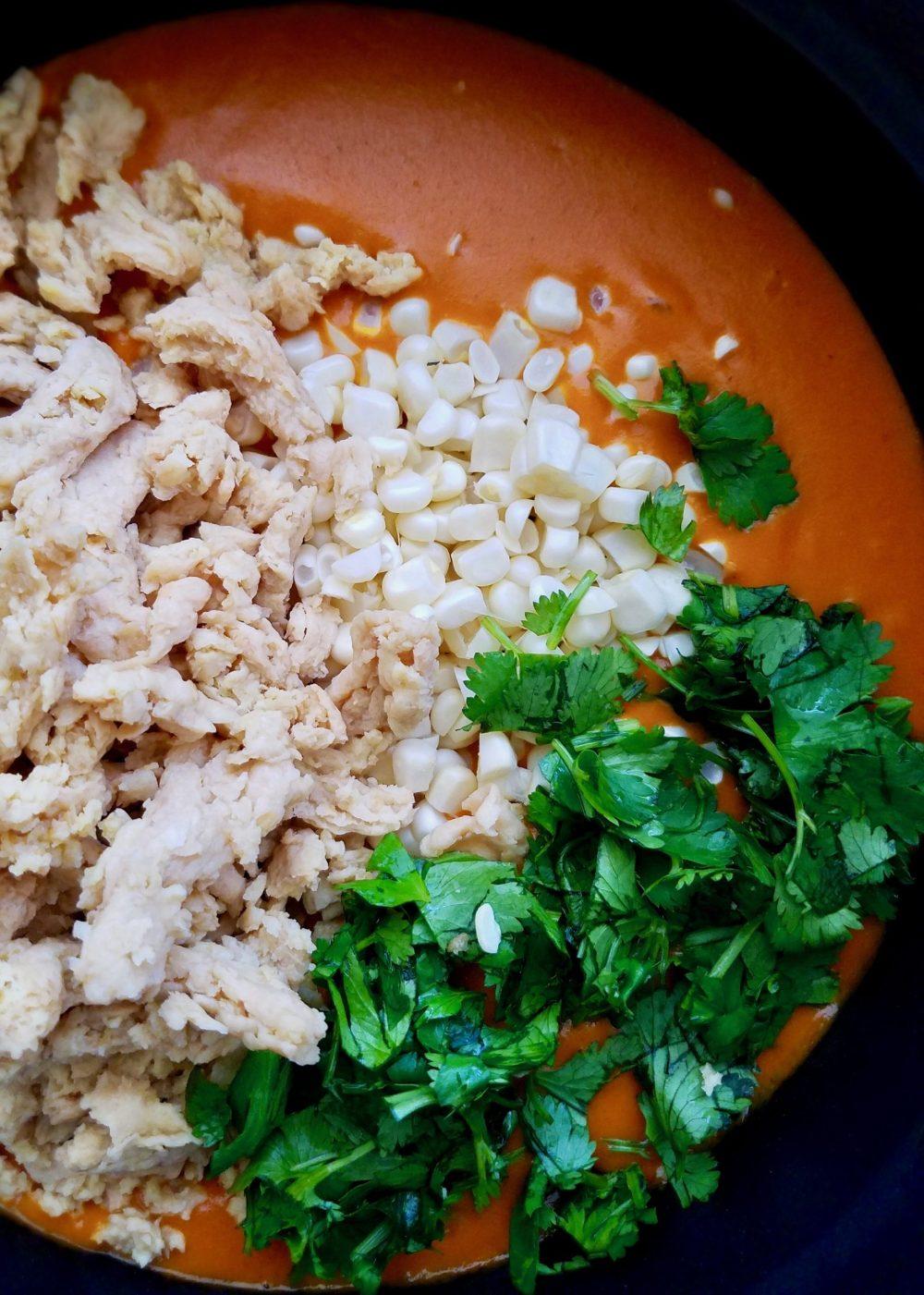 Vegan Chicken Tortilla Soup Recipe