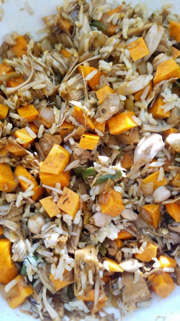 Jackfruit and sweet potato