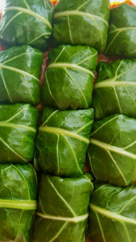 Vegan Stuffed Collard Greens