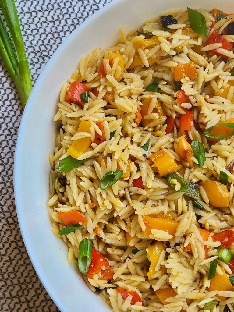 Easy Vegan Orzo Salad Recipe