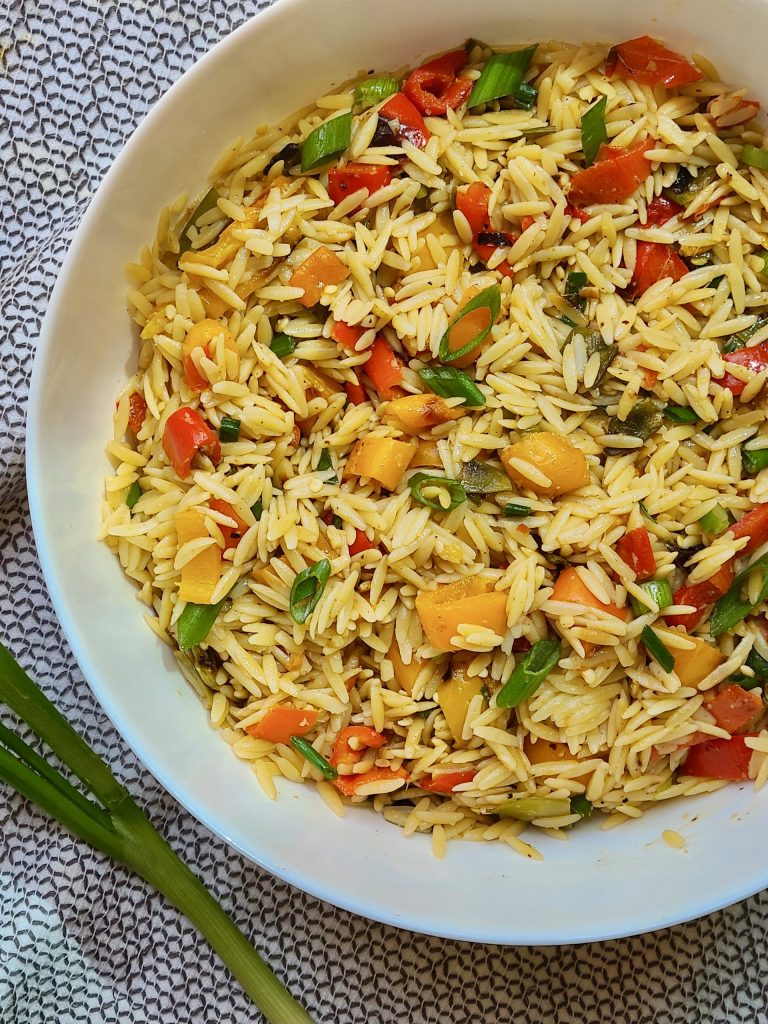 Asian Inspired Orzo Pasta Salad