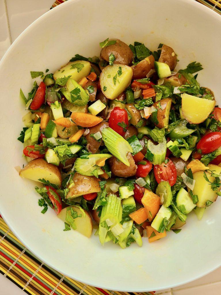 Lemon Mint Potato Salad Recipe
