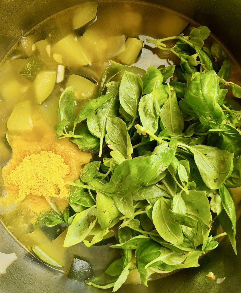 Vegan Zucchini and Basil Soup