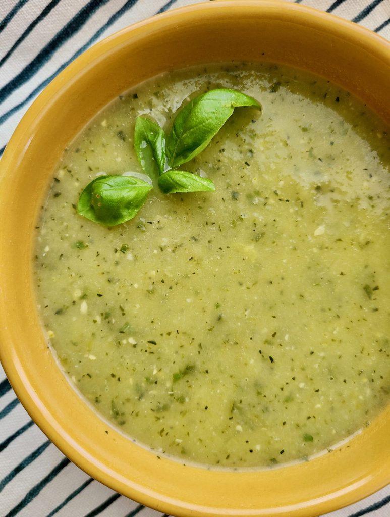 Zucchini Basil Soup Vegan
