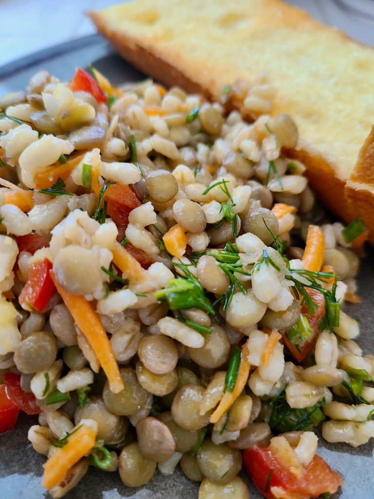 Lentil and Pearl Barley Salad Recipe