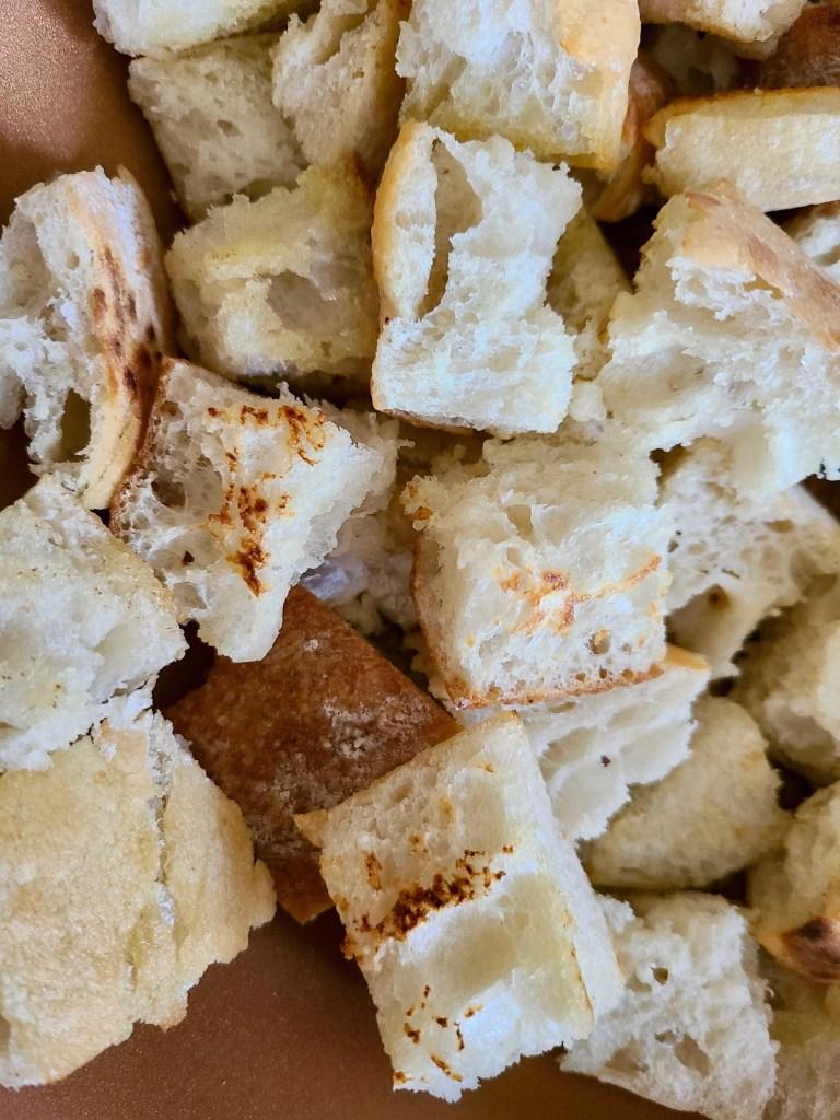 Vegan Bread Salad Cubes