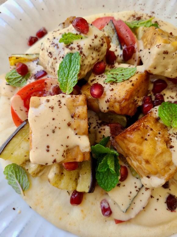 Grilled Tempeh for Pita Vegan