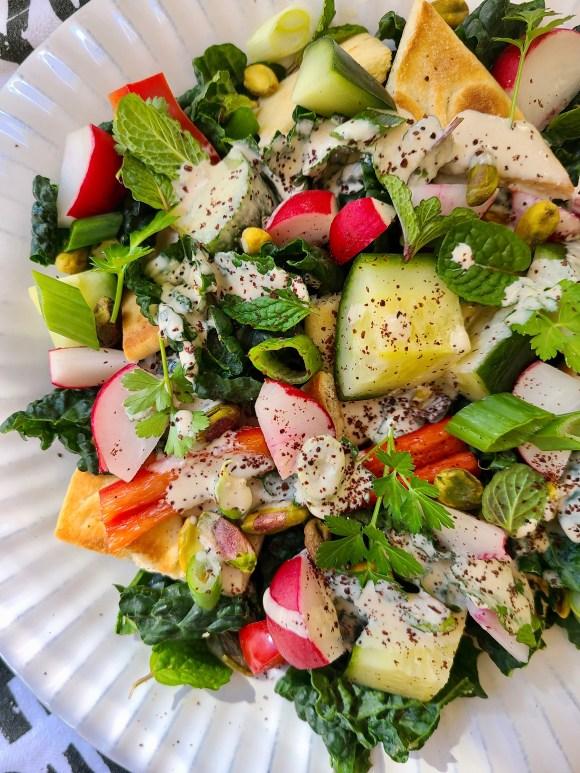 Vegetarian Pita Salad