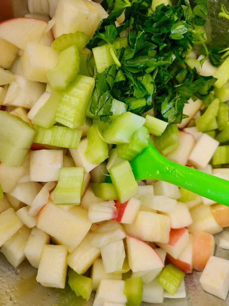 Vegan Celeriac Apple and Fennel Salad