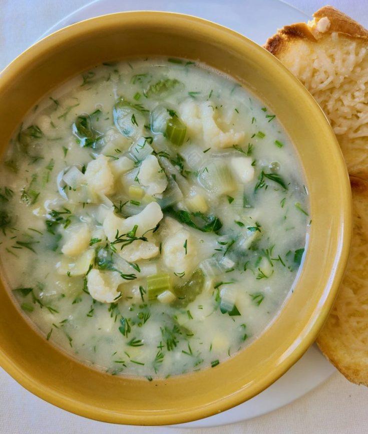 Vegan Cauliflower Soup without Coconut Milk