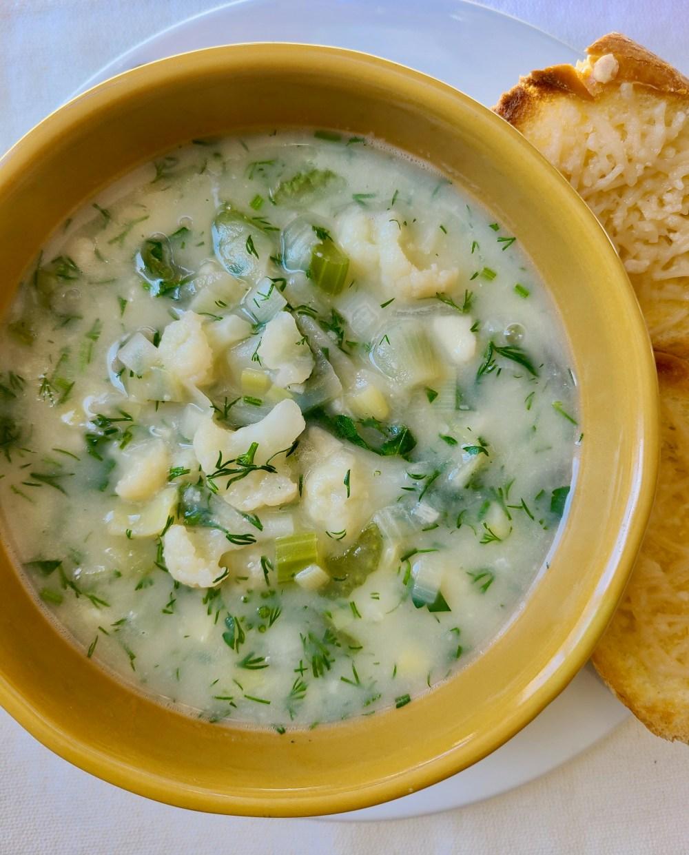 Easy Cauliflower Soup Recipe Vegan