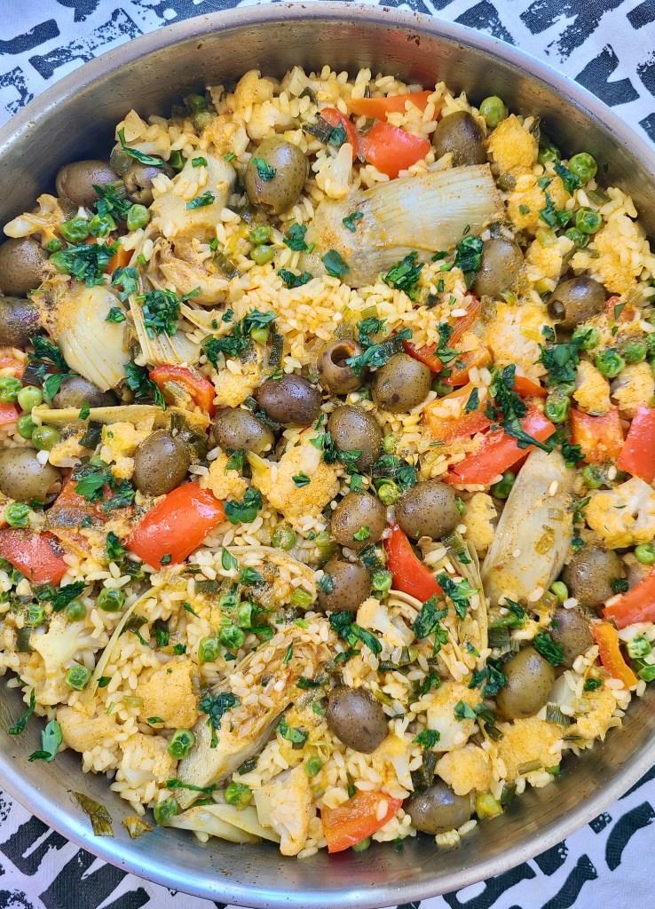 Paella Vegan Recipe