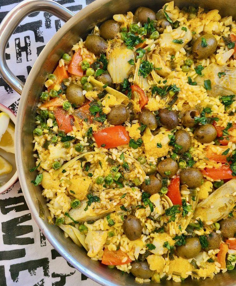 Vegan Paella Easy Recipe