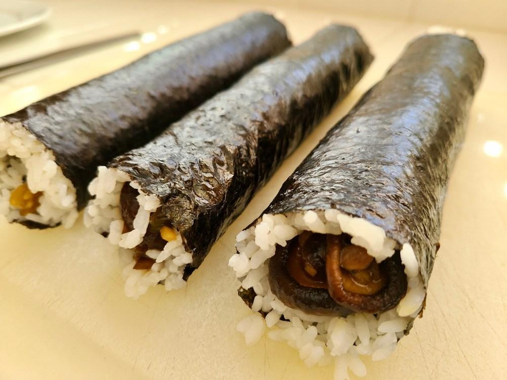 Vegan Mushroom Sushi Rolls