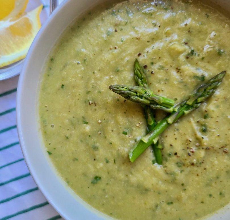 Artichoke and Asparagus Soup Vegan
