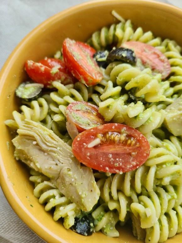 Vegan Pasta Salad Artichoke Hearts