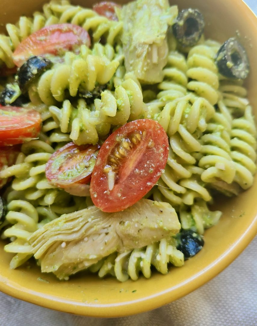 Cold Pesto Pasta Salad Vegan